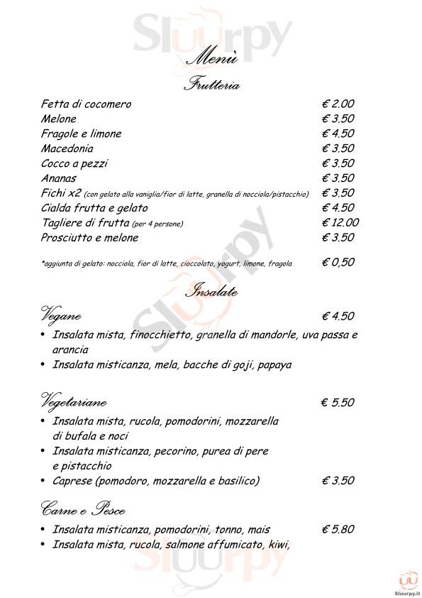 FRUIT SHAKE Alba Adriatica menù 1 pagina