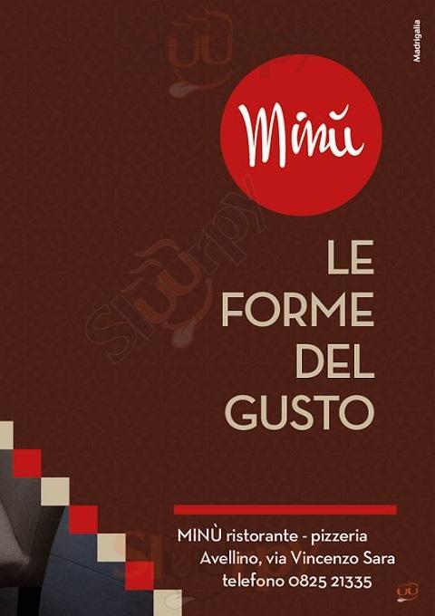 MINU' Avellino menù 1 pagina