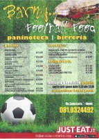 Menu BARNY FOOTBALL FOOD
