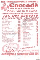 Menu COCCODE', Via Cumana