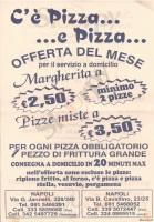 Menu C'E' PIZZA ... E PIZZA, Via Cavallino