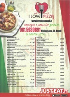 Menu I LOVE PIZZA, Via Cansalvo