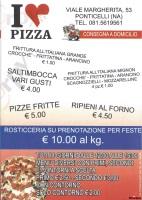 Menu I LOVE PIZZA, Viale Margherita