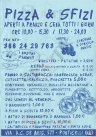 Menu PIZZA & SFIZI