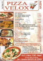 Menu PIZZA VELOX