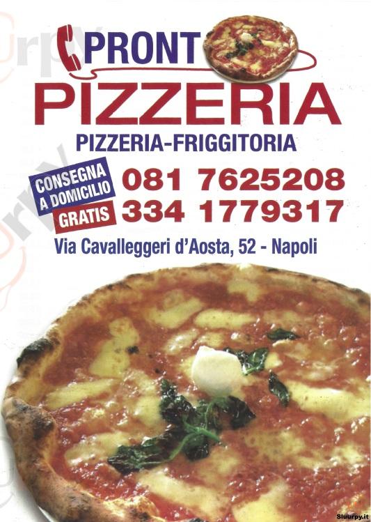 PRONTO PIZZERIA, Via Cavalleggeri D'Aosta Napoli menù 1 pagina