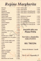 Menu REGINA MARGHERITA