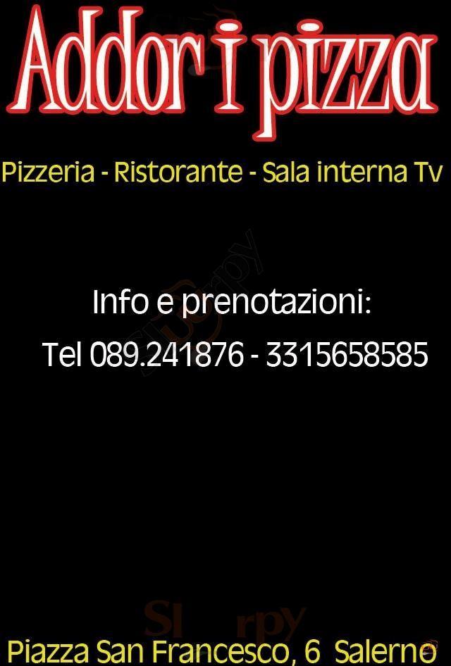 ADDOR I PIZZA Salerno menù 1 pagina