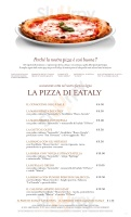 Menu Eataly - Firenze