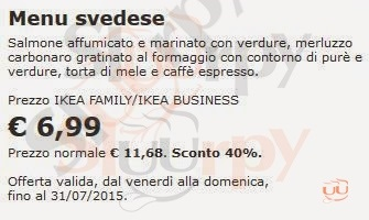 Menù Ristorante Ikea A Genova