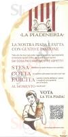 Menu LA PIADINERIA - Vicenza