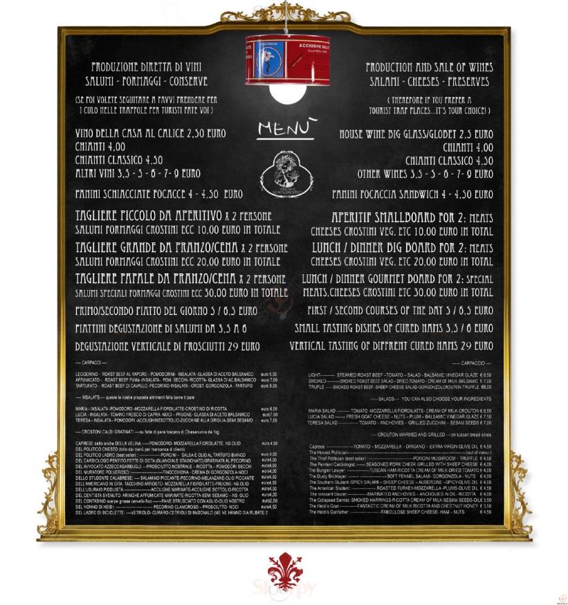 La Prosciutteria - Milano Milano menù 1 pagina