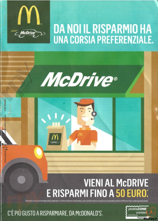 McDonald's - Roma  Molo C Fiumicino menù 1 pagina
