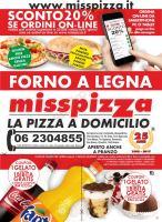 Menu Miss Pizza - Centocelle