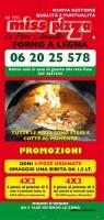 Menu Miss Pizza - Tor Vergata