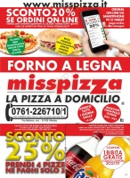 Menu Miss Pizza - Viterbo
