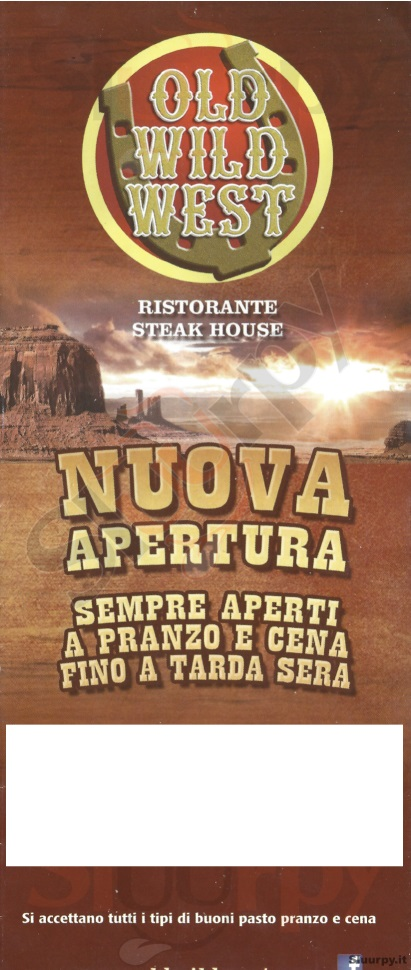 OLD WILD WEST - Catania Catania menù 1 pagina