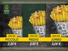Menu QUEEN'S CHIPS - Piacenza