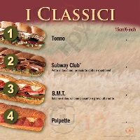 Menu SUBWAY