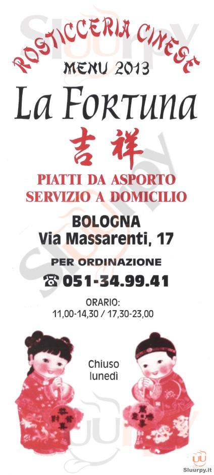 La Fortuna Bologna menù 1 pagina