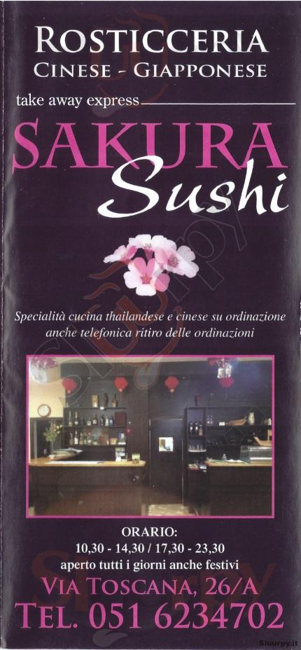 Sakura Sushi Bologna menù 1 pagina