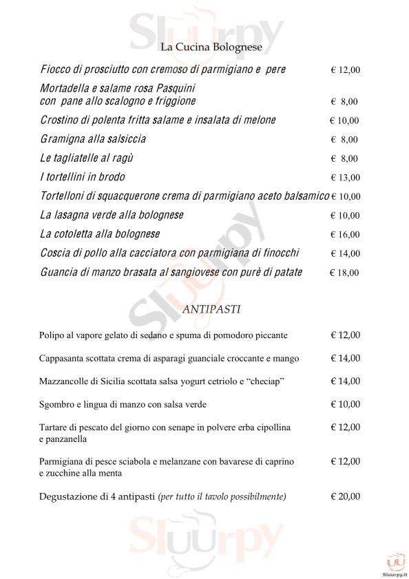 Ciacco bologna sfoglia il men originale for Il rosso bologna menu