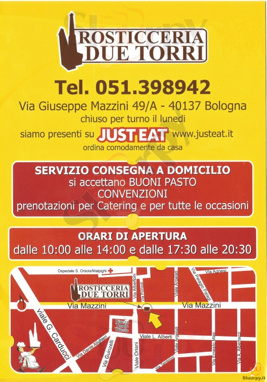 ROSTICCERIA DUE TORRI Bologna menù 1 pagina