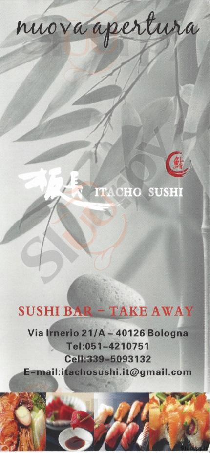 Itacho Sushi Bologna menù 1 pagina