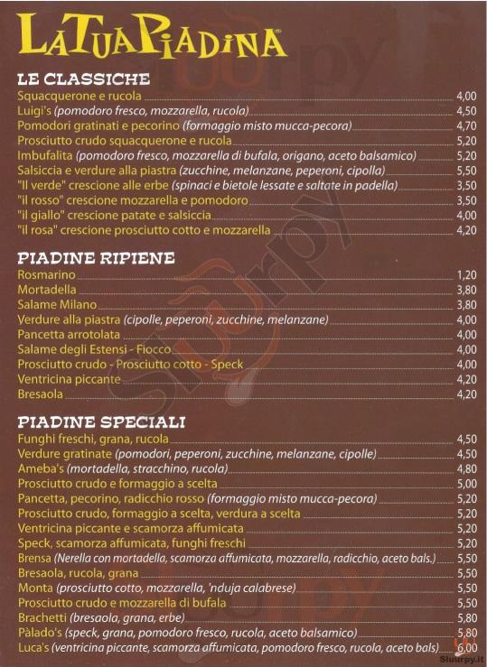 La tua piadina via del pratello bologna sfoglia il men for Il rosso bologna menu