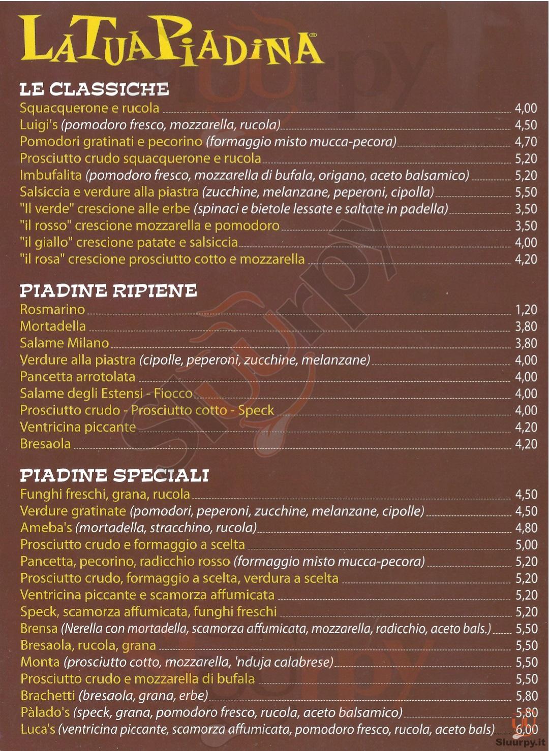 Piadinerie a bologna sfoglia il men for Il rosso bologna menu