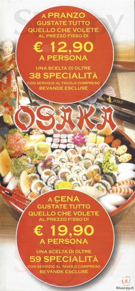 Osaka Bologna menù 1 pagina