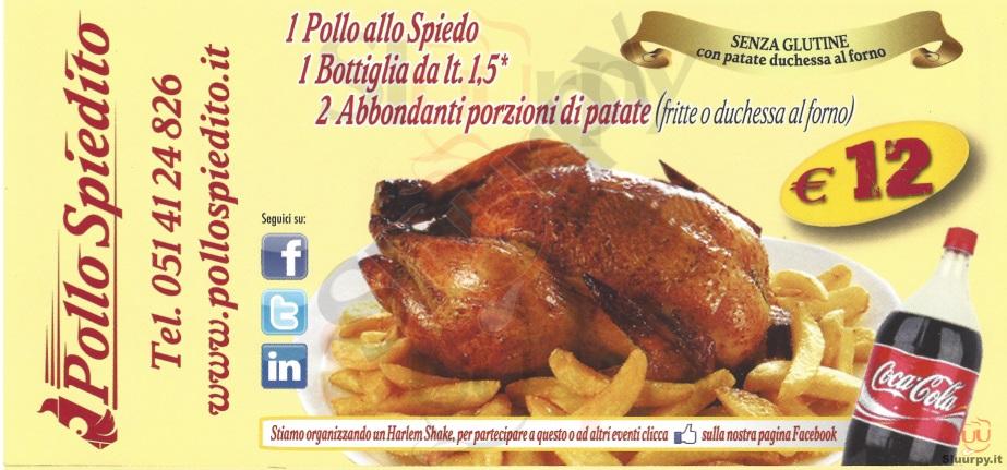 Pollo Spiedito Bologna menù 1 pagina
