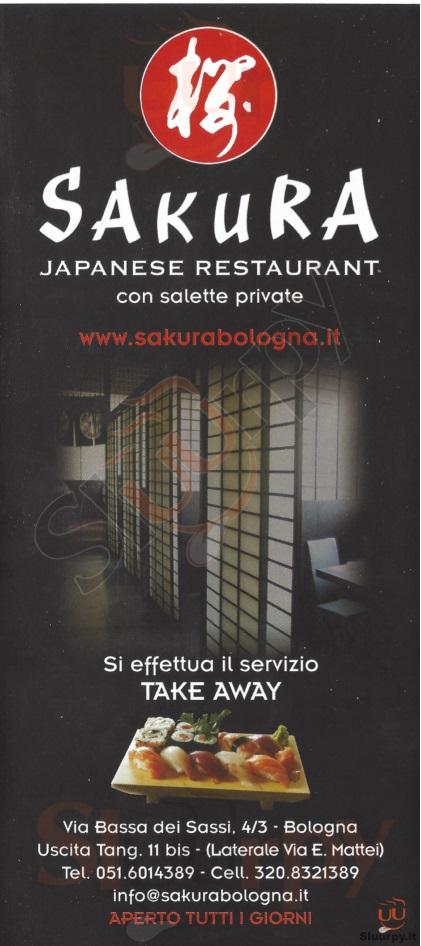 Sakura - Bologna Bologna menù 1 pagina