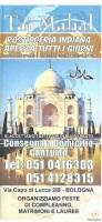 Menu Taj Mahal