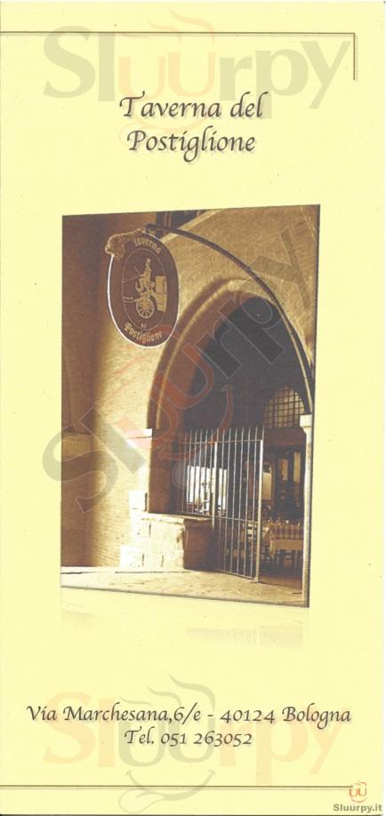 Taverna del Postiglione Bologna menù 1 pagina