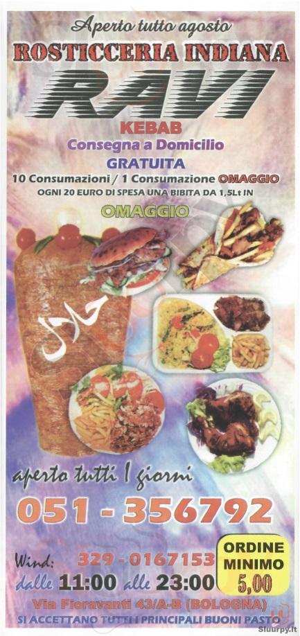 RAVI Bologna menù 1 pagina