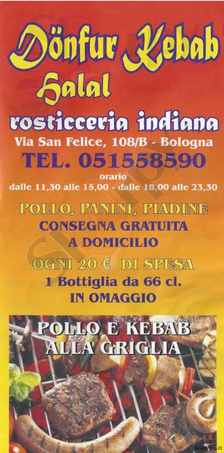SALAL Bologna menù 1 pagina