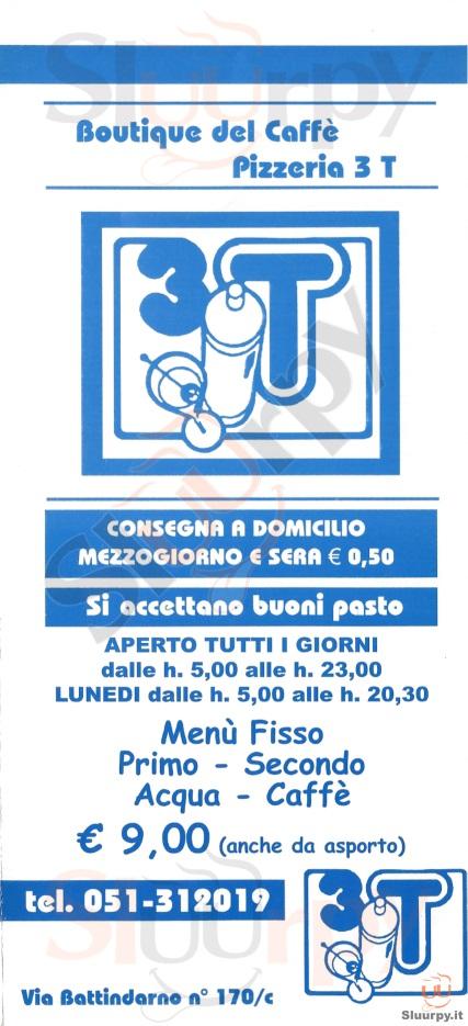 3T Bologna menù 1 pagina