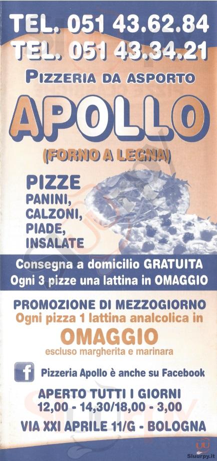 APOLLO Bologna menù 1 pagina