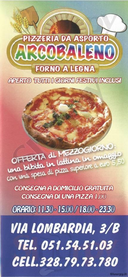 ARCOBALENO Bologna menù 1 pagina