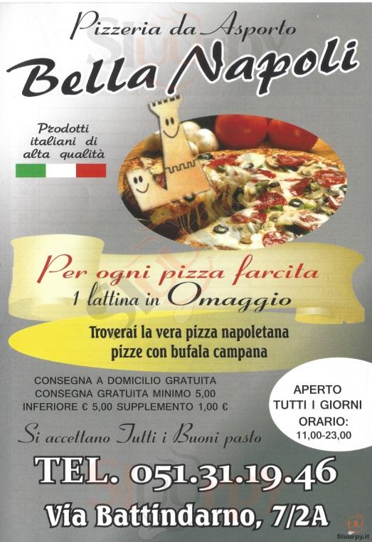 BELLA NAPOLI Bologna menù 1 pagina