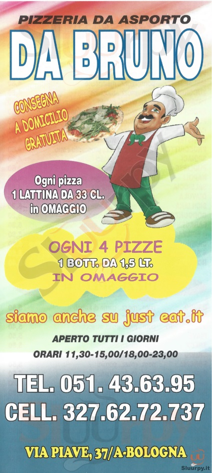 DA BRUNO Bologna menù 1 pagina
