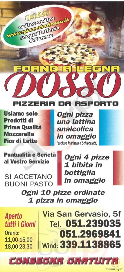 DOSSO Bologna menù 1 pagina