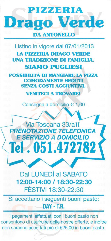 Drago Verde Bologna menù 1 pagina