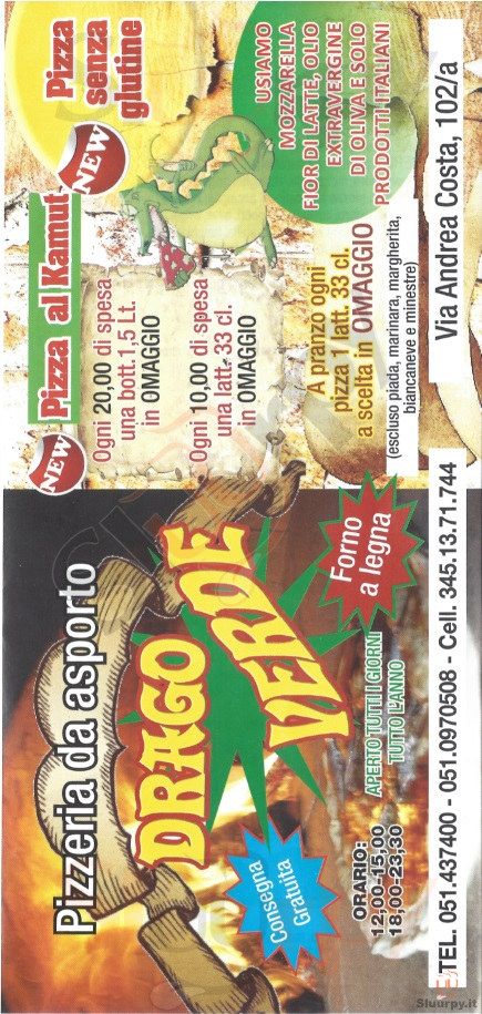 Drago verde bologna sfoglia il men originale for Il rosso bologna menu