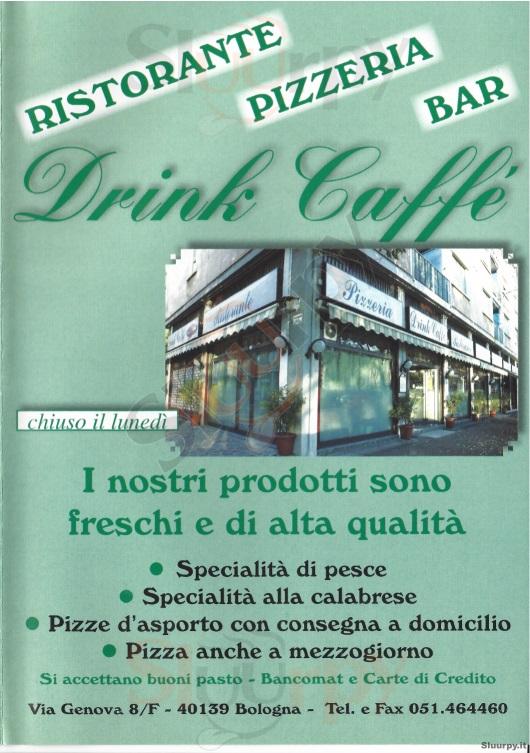 Drink Caffè Bologna menù 1 pagina