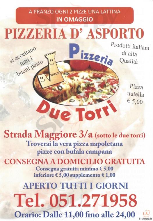 DUE TORRI Bologna menù 1 pagina