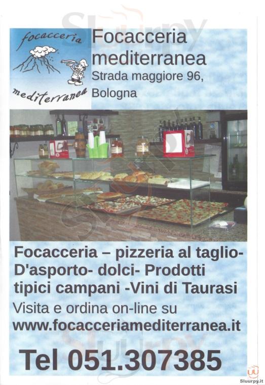 Focacceria Mediterranea Bologna menù 1 pagina