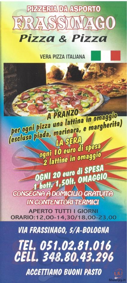 FRASSINAGO Bologna menù 1 pagina