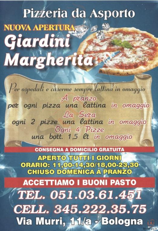 GIARDINI MARGHERITA Bologna menù 1 pagina